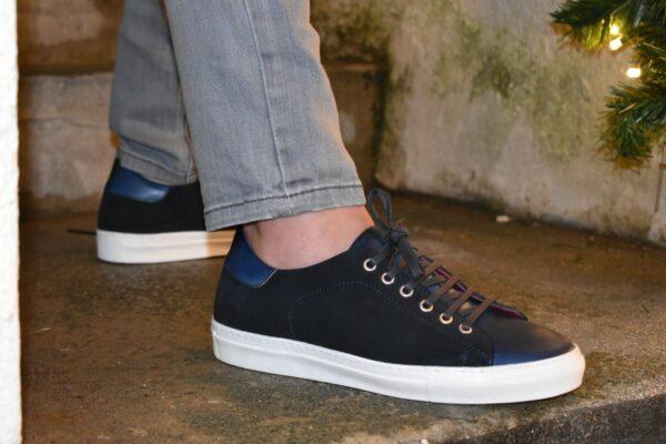 Navy Blue Low Top Sneaker